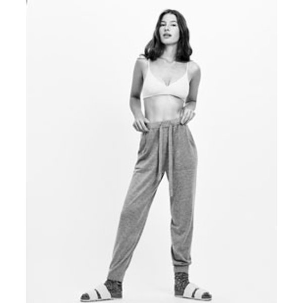 Oysho - Pantalon bord côte maille fine - 1