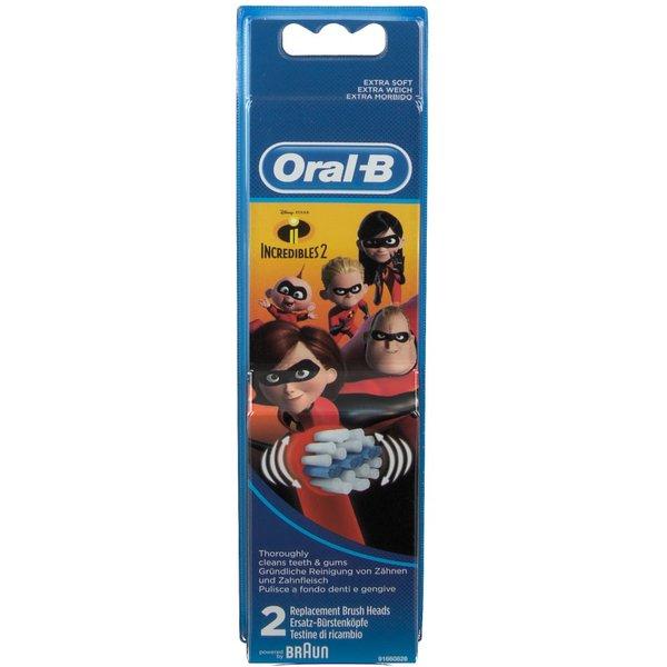 Oral-B Brossettes De Rechange Pour Brosse À Dents Électrique Incredibles 2