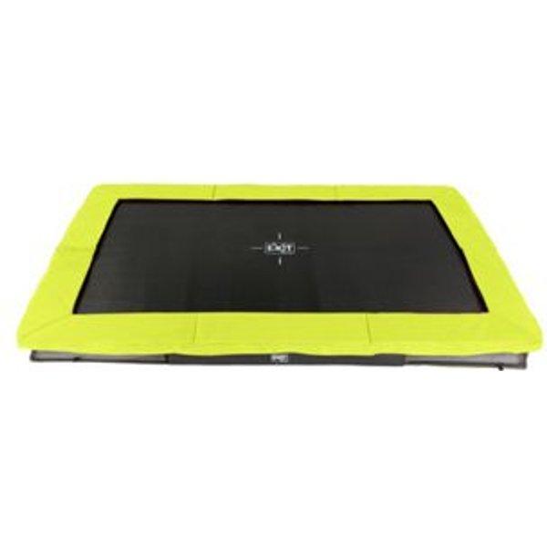 EXIT Silhouette Bodentrampolin 214x305cm - grün