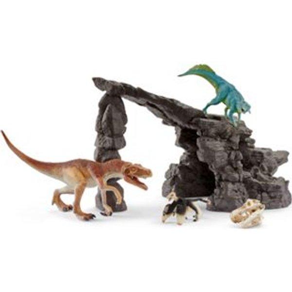 Schleich - Kit de dinosaures avec grotte