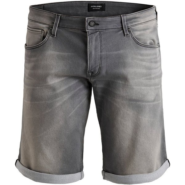 JACK & JONES Denim Plus Size Shorts Herren Grau