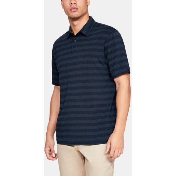 Under Armour - Polo Charged Cotton® Scramble con rayas para hombre - 1