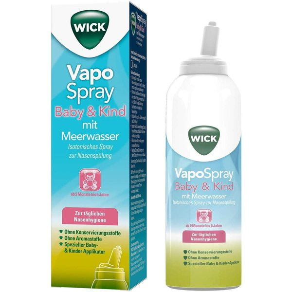 Wick Vapo Spray Baby & Kind mit Meerwasser 100 ml
