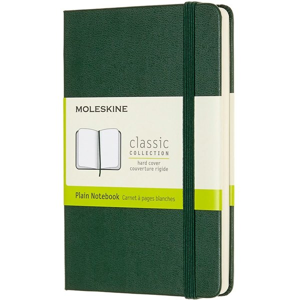 Moleskine Pocket Plain Hardcover Notebook: Myrtle Green