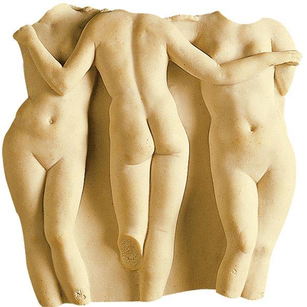 Replikat 'Die drei Grazien', Kunstmarmor, Skulptur