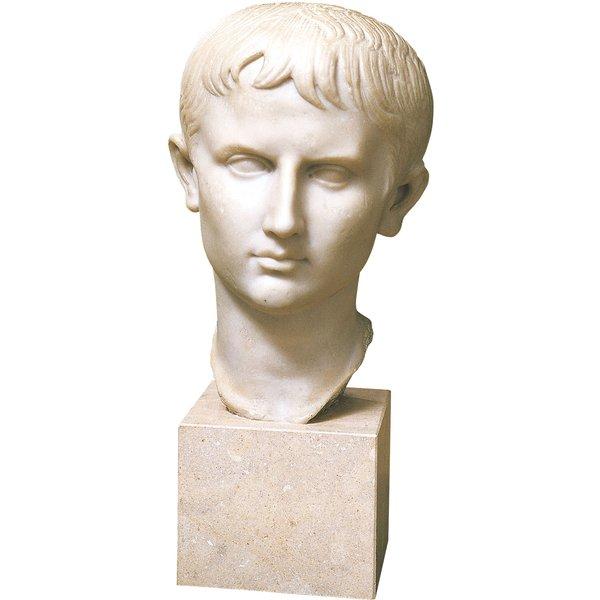 Porträtkopf 'Jugendlicher Augustus', Kunstguss