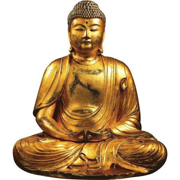 Buddha-Skulptur 'Amitabha', Kunstguss handvergoldet