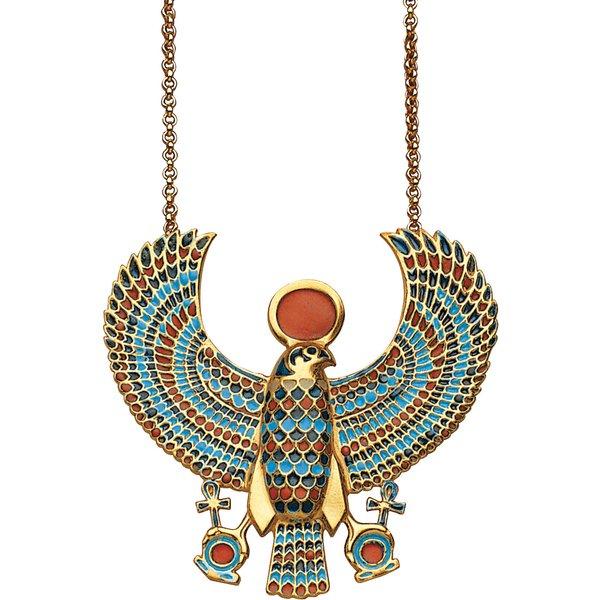 Anhänger 'Falken-Pektoral des Tutanchamun' mit Kette
