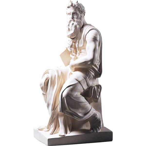 Michelangelo Buonarroti: Skulptur 'Moses' (1513-16), Reduktion in Kunstmarmor