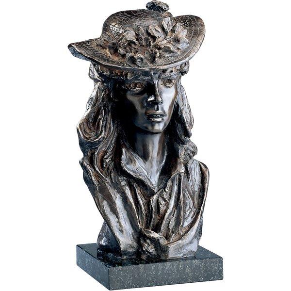 Auguste Rodin: Skulptur 'Das Mädchen mit dem Rosenhut', Version in Bronze