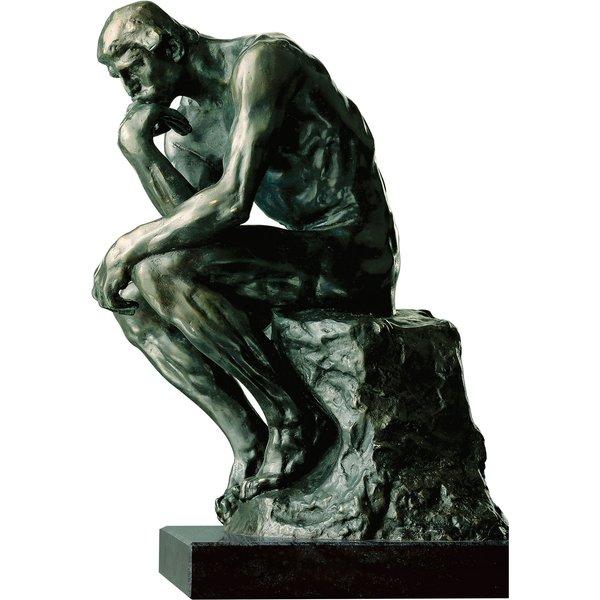 Auguste Rodin: Skulptur 'Der Denker' (38 cm), Version in Bronze