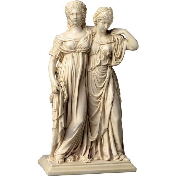 Johann Gottfried Schadow: Skulptur 'Luise und Friederike' (Originalgröße), Kunstmarmor