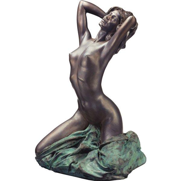Vittorio Luigi Tessaro: Skulptur 'Nudo nuovo' (1992), Version in Kunstmarmor bronziert