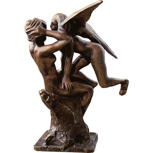 Auguste Rodin: Skulptur 'Ein Engel auf den Knien der Iris', Bronze