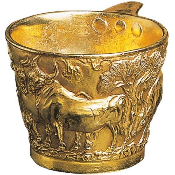 Minoischer Goldbecher 'Zahme Stiere'