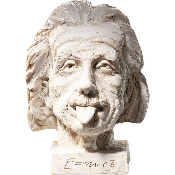 J. Nemecek: 'Einstein-Kopf' (klein), Kunstguss