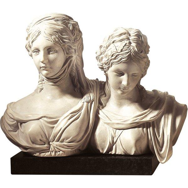 Johann Gottfried Schadow: Büste 'Luise und Friederike', Kunstmarmor