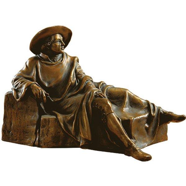 Skulptur 'Goethe in der Campagna', Version in Bronze