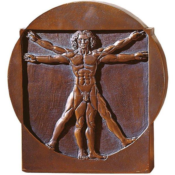 Leonardo da Vinci: 'Schema delle Proporzioni', Standrelief 'Mann'