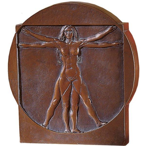 Leonardo da Vinci: 'Schema delle Proporzioni', Standrelief 'Frau'