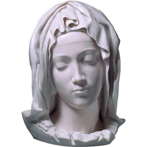 Michelangelo Buonarroti: 'Kopf der Gottesmutter Maria', Kunstguss, Skulptur