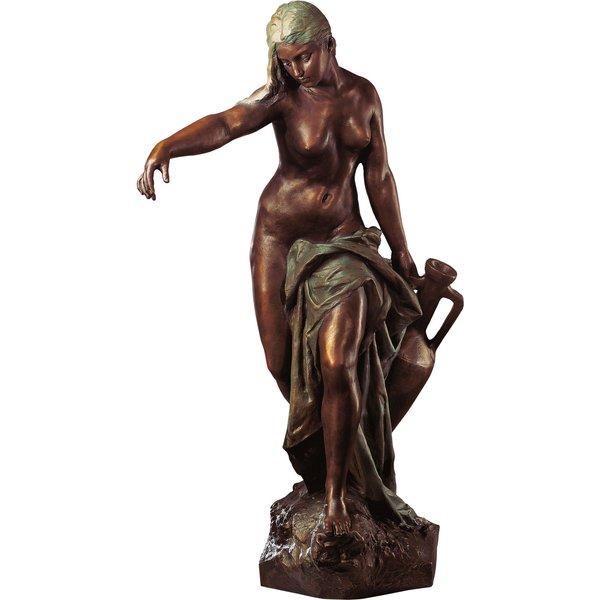 Gustav Eberlein: Skulptur 'Wasserträgerin Rebekka' (1897), Version in Kunstbronze