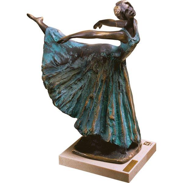 Lluis Jorda: Skulptur Ballerina 'Arabesco', Kunstbronze