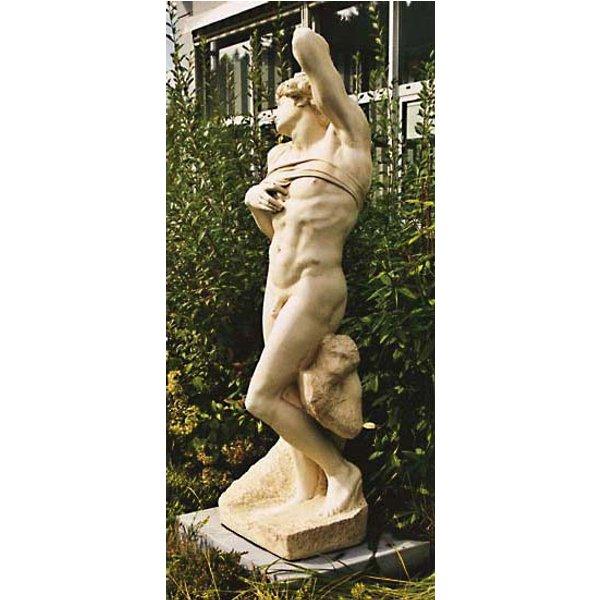 Michelangelo Buonarroti: Skulptur 'Sterbender Sklave' (Originalgröße), Kunstmarmor