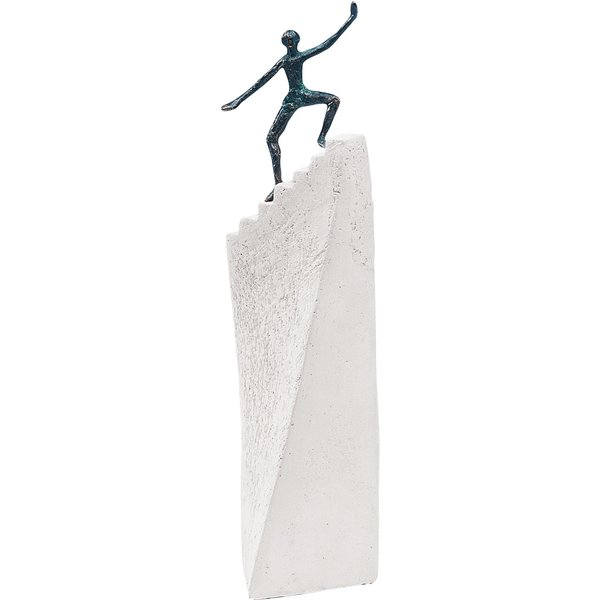 Luise Kött-Gärtner: Skulptur 'Stufen zum Erfolg', Bronze auf Steinguss