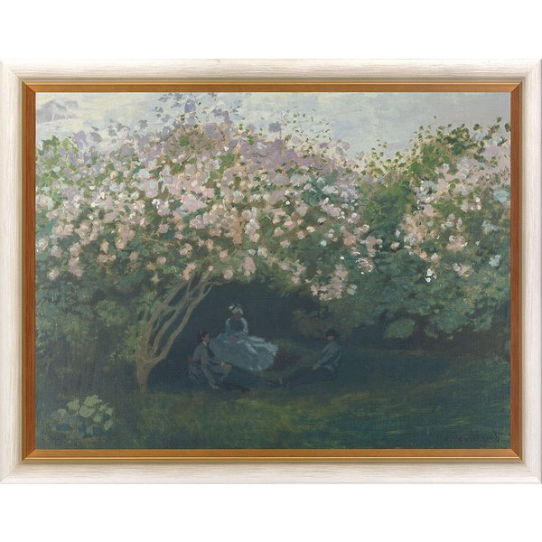 Claude Monet: Bild 'Ruhe unterm Fliederbusch', gerahmt