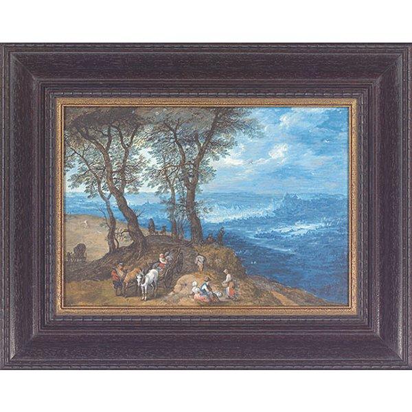 Jan Brueghel d. Ä.: Bild 'Rückkehr vom Markt', gerahmt