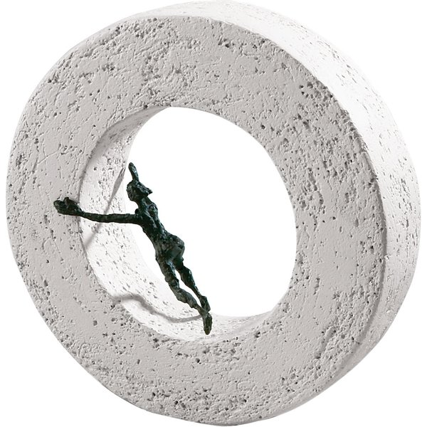 Luise Kött-Gärtner: Skulptur 'Die Dinge von innen bewegen', Bronze und Steinguss
