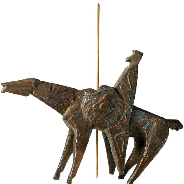 Sepp Mastaller: Skulptur 'Don Quijote', Bronze