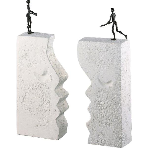 Luise Kött-Gärtner: Skulptur 'Sehnsucht', Bronze auf Steinguss