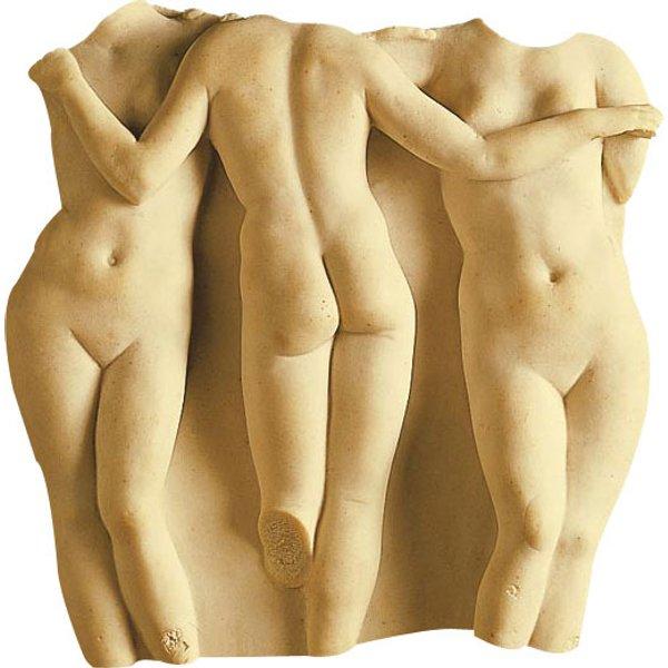 Replikat 'Die drei Grazien' (Reduktion), Kunstguss