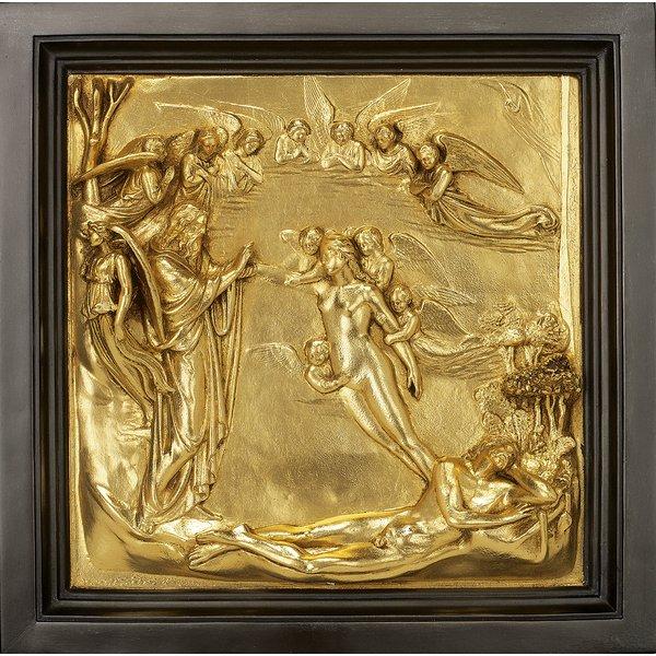 Lorenzo Ghiberti: Wandrelief 'Erschaffung der Eva' (Reduktion)
