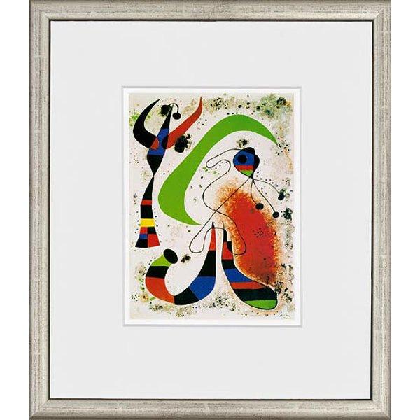 Joan Miró: Bild 'La nuit - Die Nacht', 1953, gerahmt