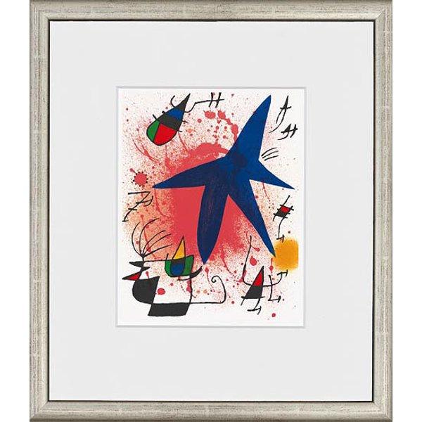 Joan Miró: Bild 'L'étoile bleu - Der blaue Stern', 1972, gerahmt