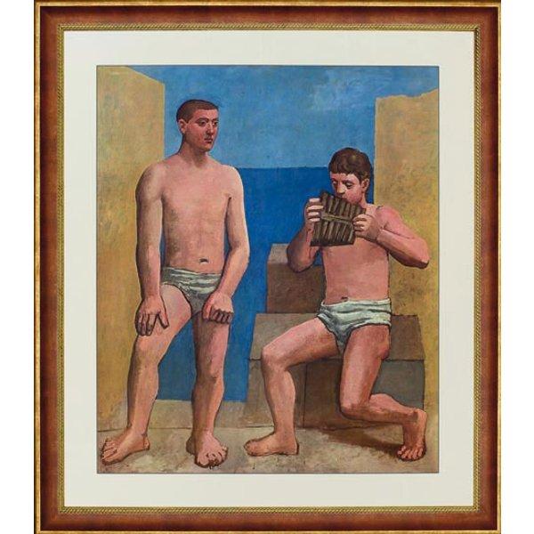 Pablo Picasso: Bild 'Die Panflöte', gerahmt
