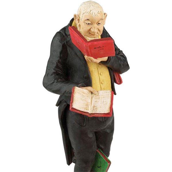 Carl Spitzweg: Skulptur 'Der Bücherwurm', Version in Kunstguss handbemalt