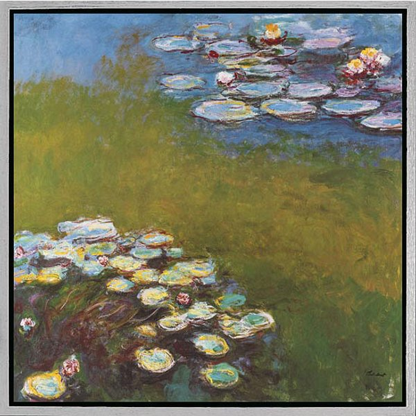 Claude Monet: Bild 'Seerosen I' (Nymphéas 1914-17), gerahmt