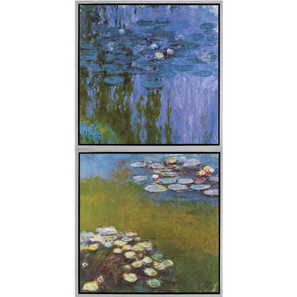 Claude Monet: 2 Bilder 'Seerosen II' (Nymphéas 1916-19) und 'Seerosen I' (Nymphéas 1914-17) im Set