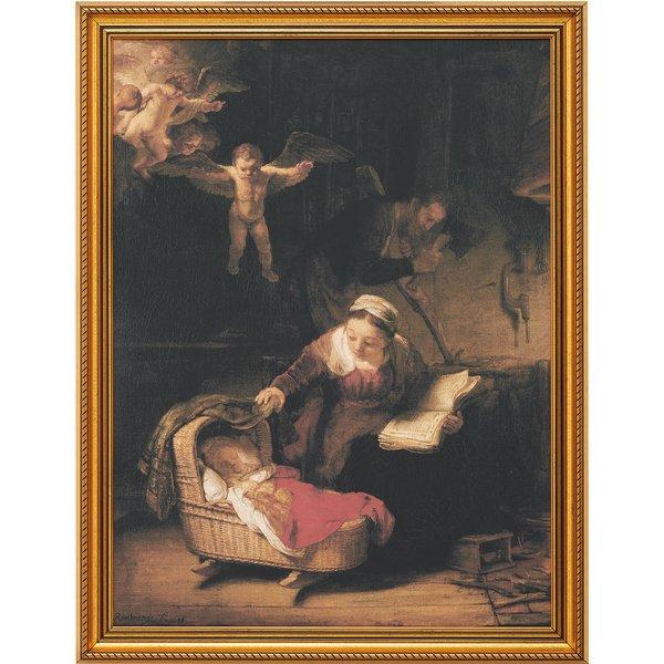 Rembrandt: Bild 'Die heilige Familie' (1645), gerahmt