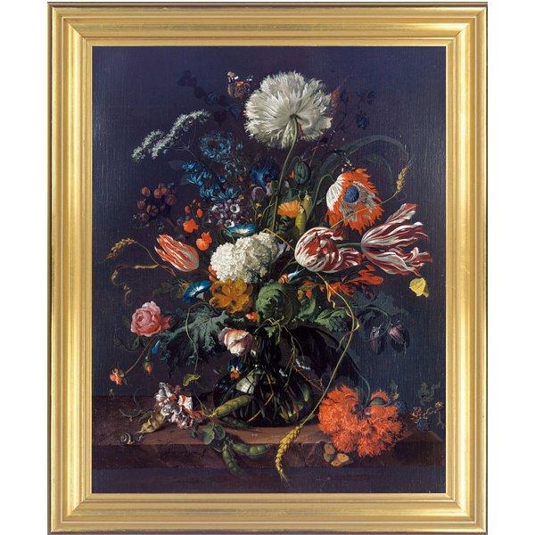 Jan Davidsz de Heem: Bild 'Blumenvase' (um 1660), gerahmt