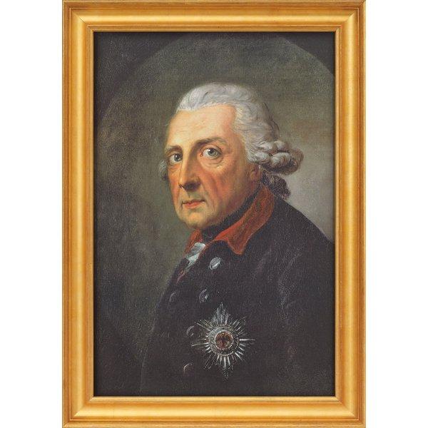 Anton Graff: Bild 'Friedrich der Große, König von Preußen' (1781), gerahmt