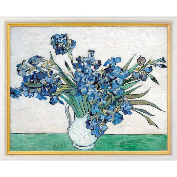 Vincent van Gogh: Bild 'Schwertlilien' (1890), gerahmt