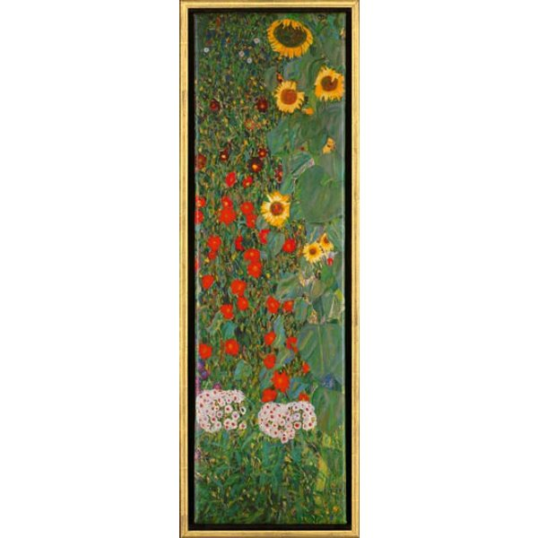 Gustav Klimt: Bild 'Sonnenblumen', gerahmt