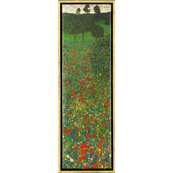 Gustav Klimt: Bild 'Mohnfeld', gerahmt