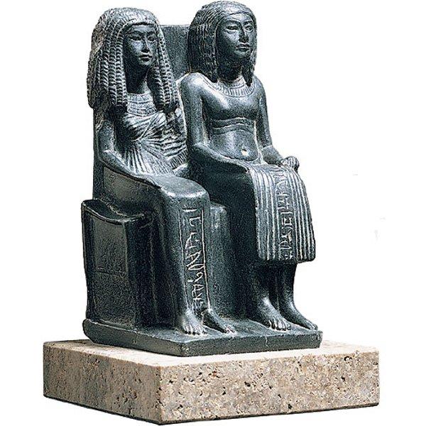 Skulptur 'Ägyptisches Ehepaar', Kunstguss