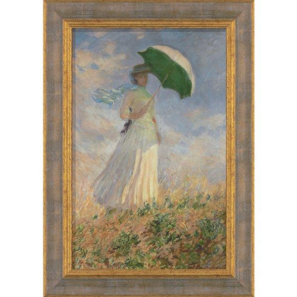 Claude Monet: Bild 'Frau mit Sonnenschirm' (1886), gerahmt